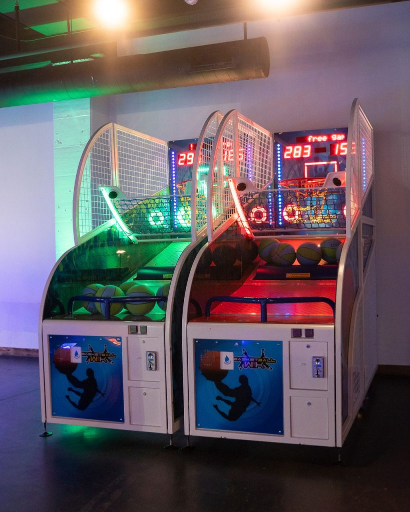 arcade hoops with green and red leds at ajax dc