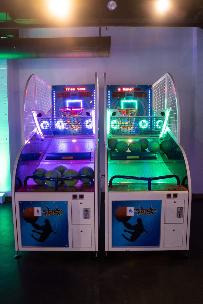 arcade hoops with purple and green leds at ajax dc