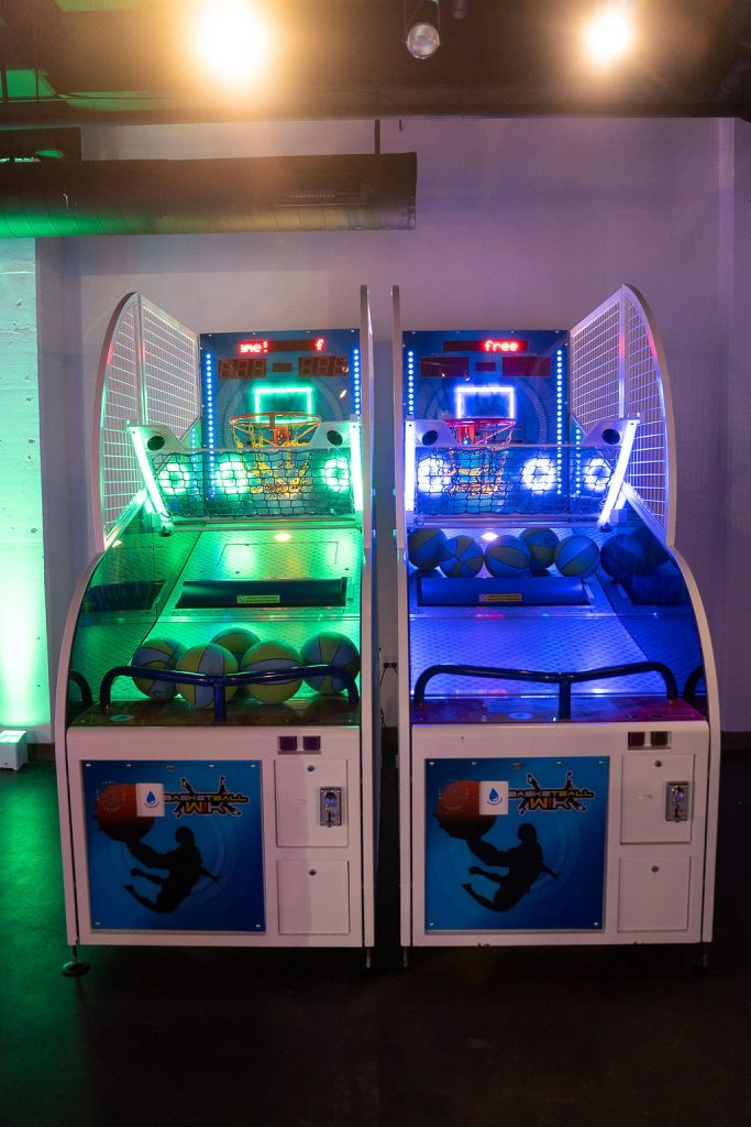 arcade hoops with green and blue leds at ajax dc