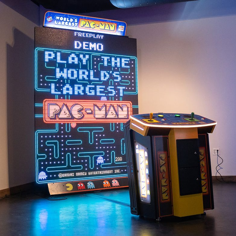 giant led pacman the worlds largest pacman at ajax dc