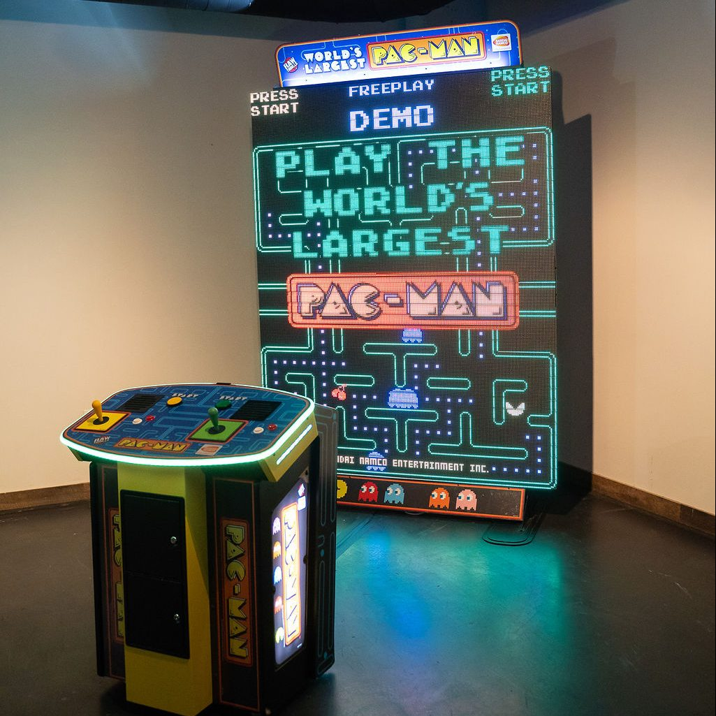 giant pacman arcade game the worlds largest at ajax dc