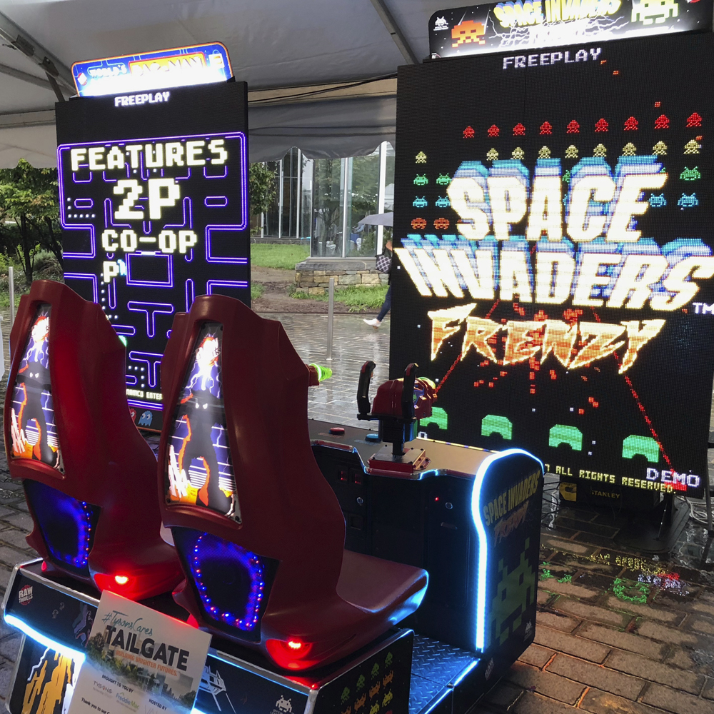 space invaders and giant pacman at tysons partnership