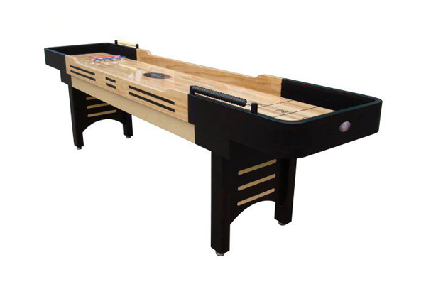 9ft shuffleboard stock photo