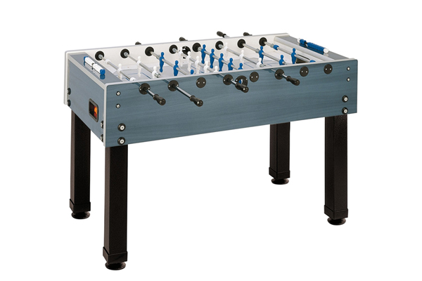 foosball table blue with black legs