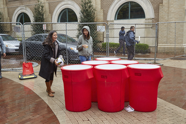 giant bucket pong beer pong for events