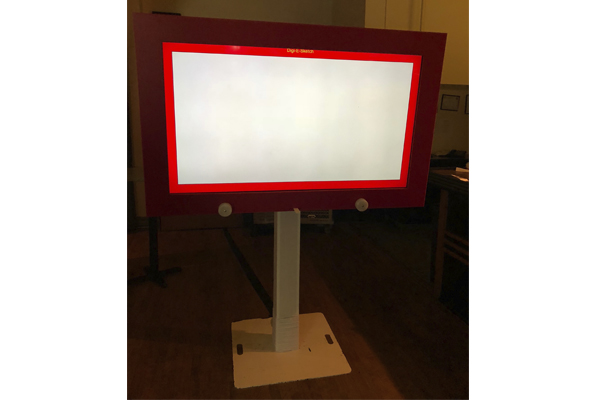giant etch a sketch game rental on truss