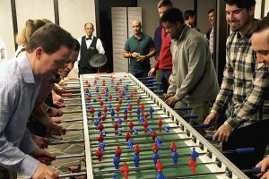 giant foosball table soccer