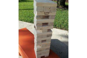 giant jenga tumbling towers wood tower game rental