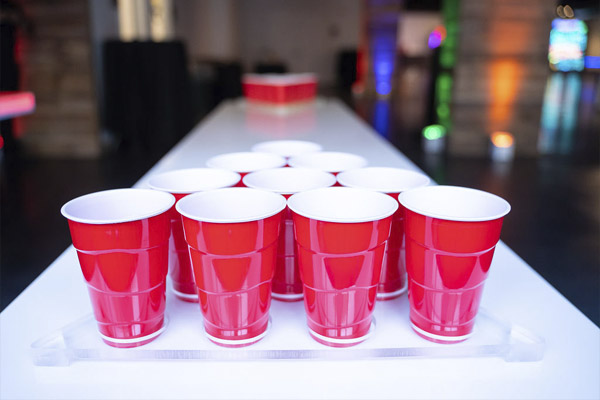 led beer pong glowing table