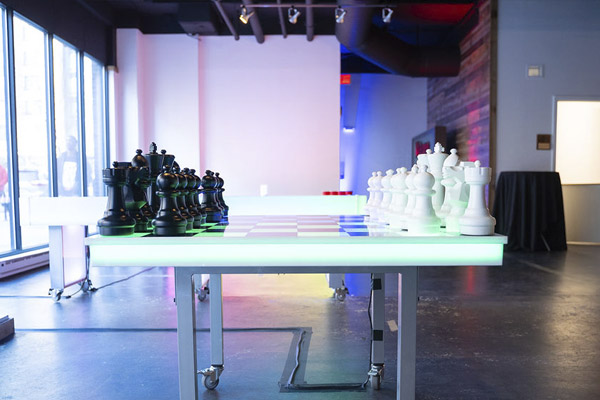 led chess checkers portable for events