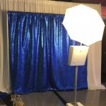 picture perfect photo booth blue sequin backdrop newseum bat mitzvah