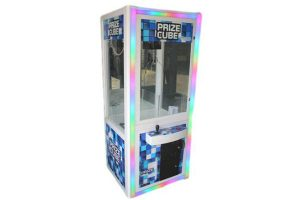 led prize cube stock photo