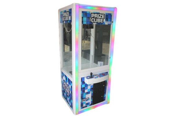 led prize cube stock photo