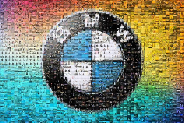 bmw logo photo mosaic