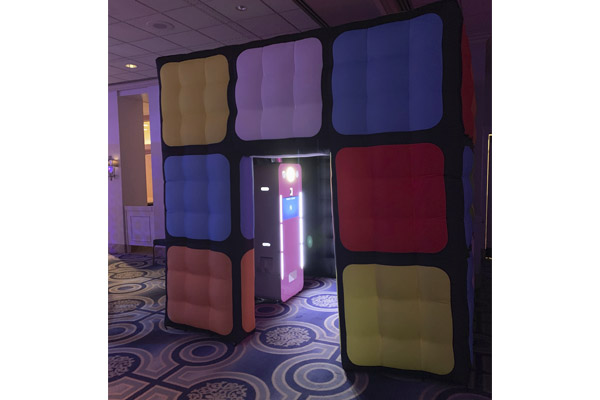 Rubiks cube inflatable photo booth